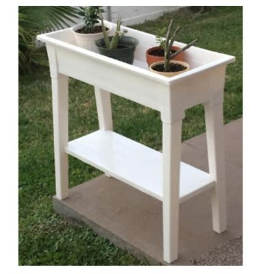 raised planter box  legs elevated outdoor garden patio