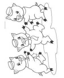 3 Pigs Coloring Page free coloring pages of pigs