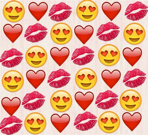 emoji lips wallpaper red heart emoji wallpaper
