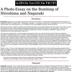 Hiroshima Essay by Bombing Of Hiroshima And Nagasaki Essay The Bombing Of Hiroshima And Nagasaki History Essay