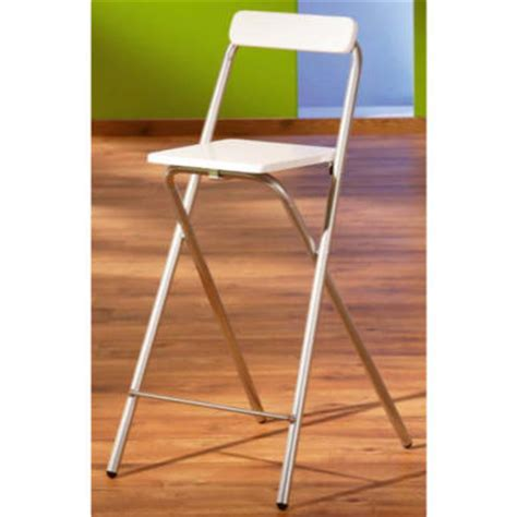 White Folding Bar Stools by Interlink Sully Folding Bar Stool In White Furniture123