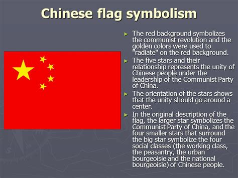 China In Colors creating a flag ppt