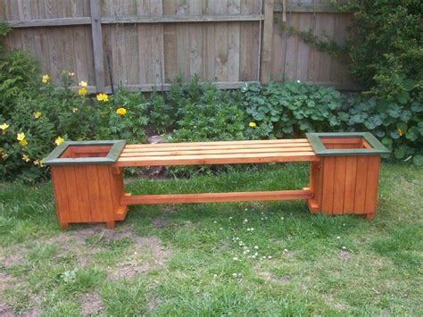 garden bench planter patio planter ideas large bench planter cool ideas