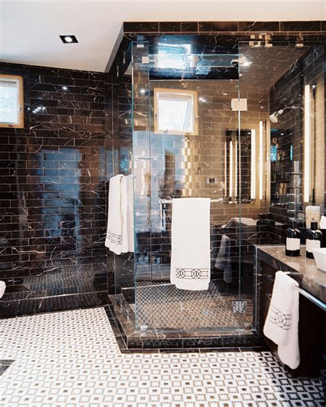 black marble bathroom tiles shower stall photos design ideas remodel and decor lonny