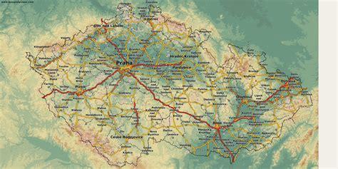 karte deutschland tschechien karten und stadtpl 228 ne tschechische republik