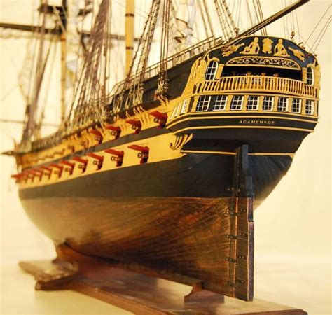miniature boats and ships hms agamemnon model ship stern detail boat pinterest