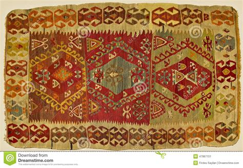 Handmade Turkish Carpets - traditional handmade turkish carpet stock photo image