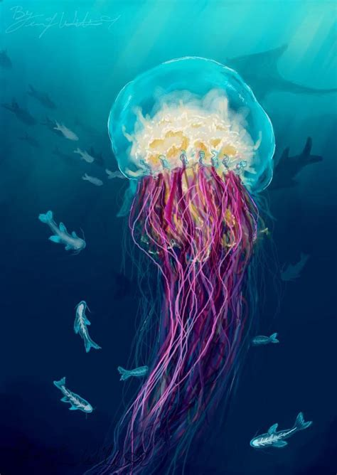 acrylic paint jellyfish acrylic paintings of jellyfish search
