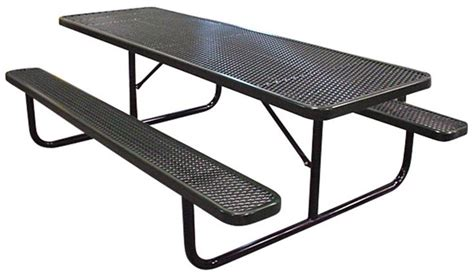 plastic coated picnic tables poly coated metal picnic tables for the ultimate in