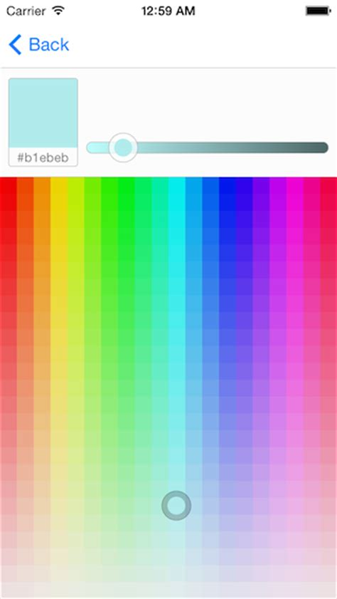 ios color picker color picker for ios on cocoapods org