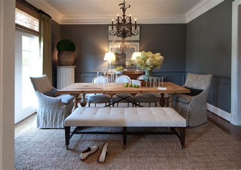 Gray Dining Room by Gray Rooms Traditional Dining Room R Higgins Interiors