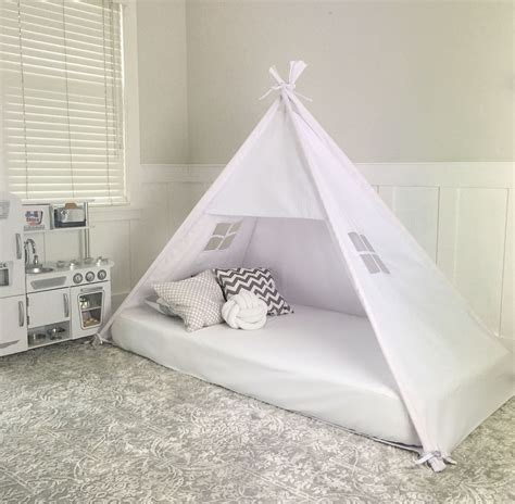 bed canopy play tent canopy bed in white twill