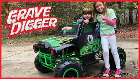 grave digger monster truck power wheels monster jam grave digger 24 volt battery powered ride on
