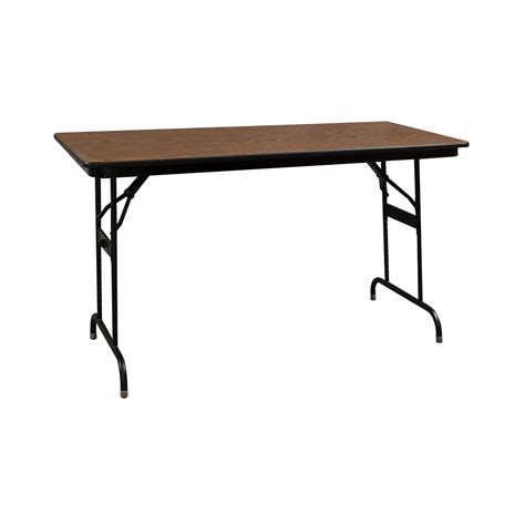 The Heavy Table by Heavy Duty Used Folding Table 24 215 48 Walnut National