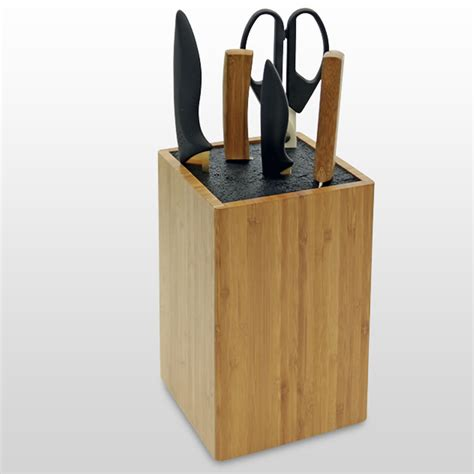 knife blocks wooden knife block by woodquail eco gifts