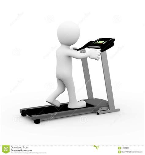 how to to walk on treadmill 3d walking on treadmill stock illustration image 57823060