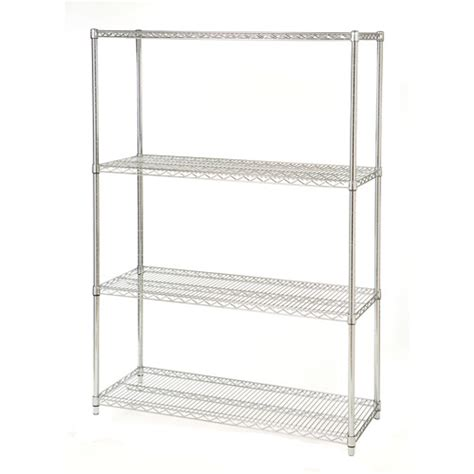 Wire Rack Walmart seville classics 4 shelf steel wire shelving system