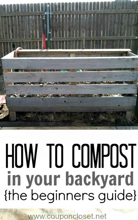 how to compost in your backyard 17 best ideas about small compost bin on
