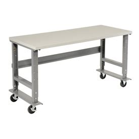 plastic work bench mobile work bench adjustable height 72 quot w x 30 quot d mobile