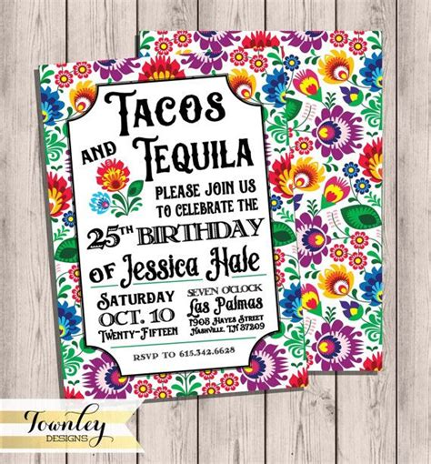 519 Best Images About Fiesta Cinco De Mayo Mexican Party Ideas On Pinterest Fiesta Cake Taco Invitation Template