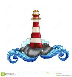 Lighthouse House Plans Leuchtturm Clipart Illustrations Aquarell Stock Abbildung