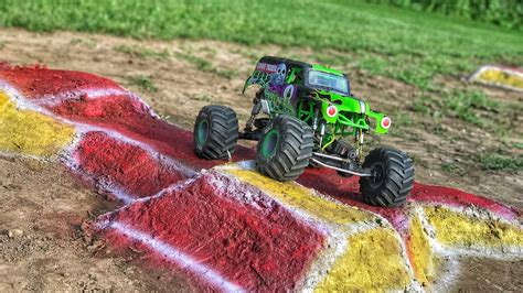 rc truck freestyle axial grave digger truck freestyle 3 scale r c