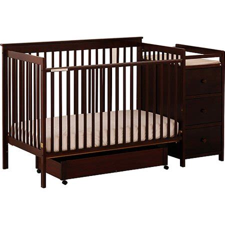 storkcraft 4 in 1 crib and changing table cherry