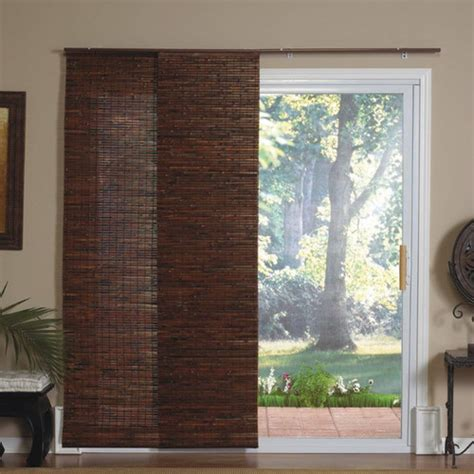 window panel blinds radiance panel track bamboo blind in java mahogany