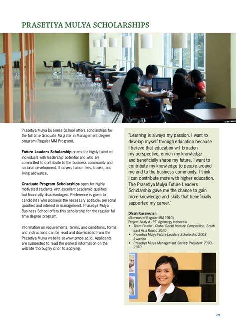 Berkeley Executive Mba Requirements by Brochure Prasetiya Mulya Graduate School Of Business