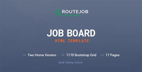 themeforest job board routejob job board html template by enroutedigitallab