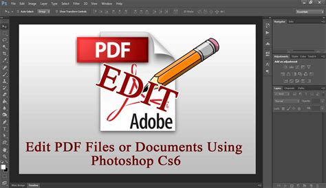 tutorial photoshop cs6 pdf photoshop cs6 tutorial how to edit pdf files documents