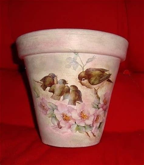 Decoupage Clay Pots Ideas - 72 best vasos decorados images on