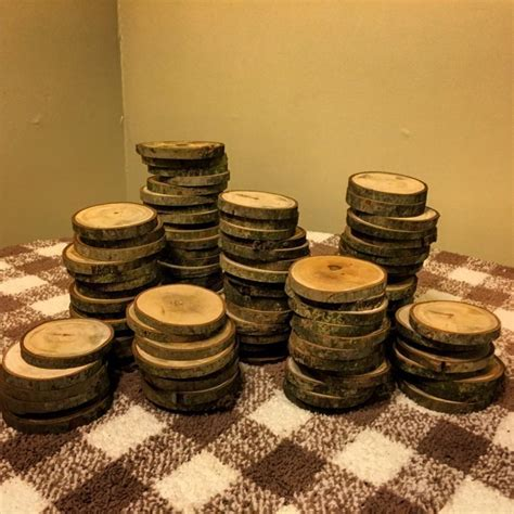 "100 3"" Wood Slices   Rustic Wedding Decor   Tree Slices"