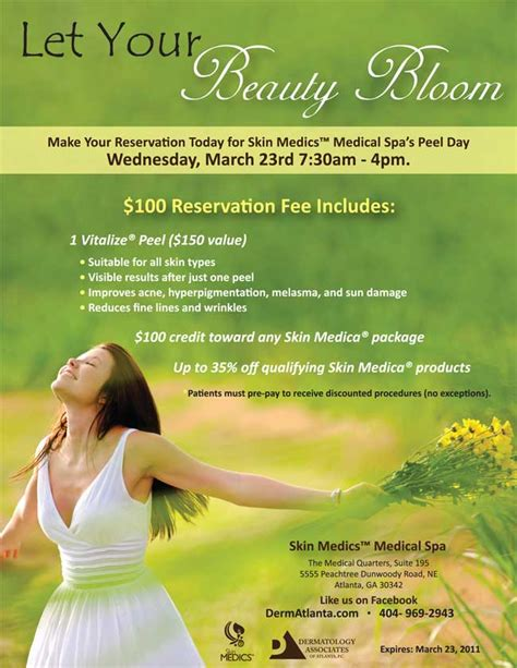 Stallex Skin Care March Promotion by Skin Medics Spa Peel Day Specials March 23rd