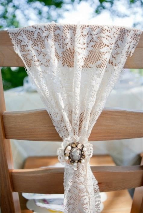 wedding chair bows lace 53 cool wedding chair decor ideas with fabric and ribbon