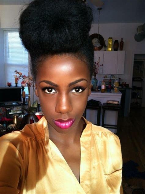 pretty buns for black woman donna natural hair style icon top bun cute buns and