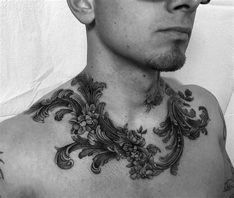 tattoo on neck collar bone collar bone tattoos for men ideas and inspiration for guys