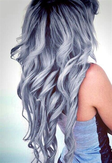 ideas  blue grey hair  pinterest silver