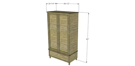 Armoire Woodworking Plans by Free Diy Woodworking Plans To Build A Large Armoire