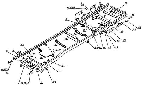 chassis parts diagram chassis frame assembly for ram fh6 truck 187 transvehco