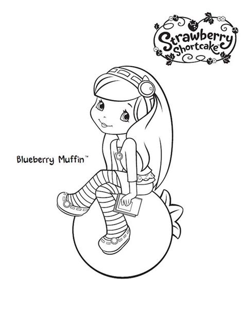 coloring pages of strawberry shortcake fabulous