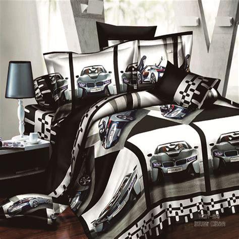 pattern sheet racing car bed home textiles sports car pattern 3d bedding sets 4pcs of