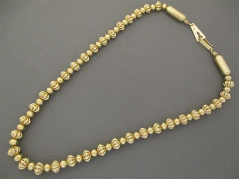 gold beaded necklace al joe 14kt gold necklace 14kt gold navajo necklace al joe