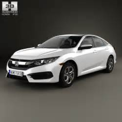 honda civic lx 2016 3d model humster3d