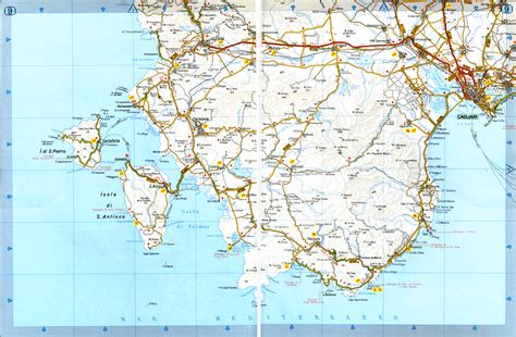 sardinia map road map sardinia italy images