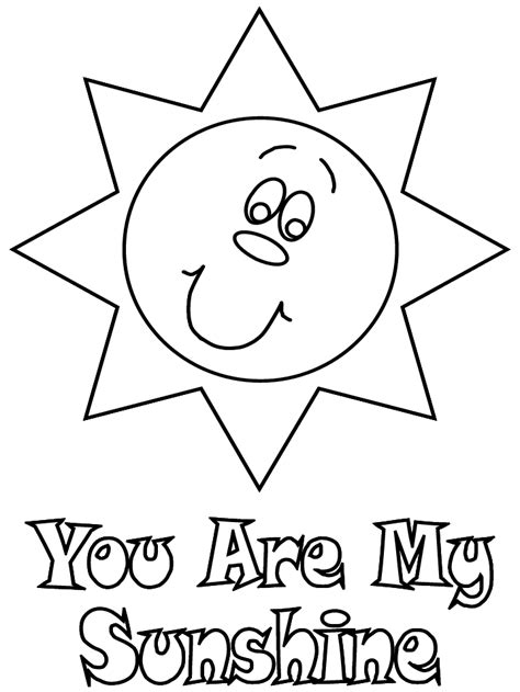 coloring page sunshine free coloring pages of summer hat