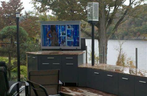 outdoor entertainment area outside tv mount outdoor tv area entertainment room