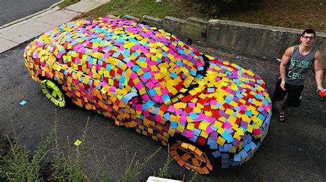 Wedding Car Pranks by Sticky Notes Car Prank