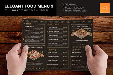 menu design elegant elegant food menu 3 illustrator template by luuqas design