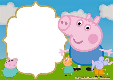 Free Printable Peppa Pig Invitation Birthday Templates Dolanpedia Invitations Template Peppa Pig Template